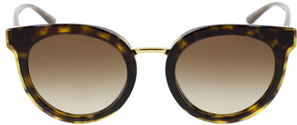 Dolce & Gabbana Round Havana Sunglasses