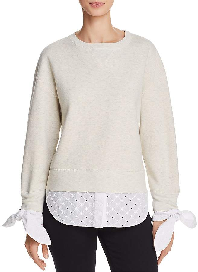 Derek Lam 10 Crosby Layered-Look Sweatshirt