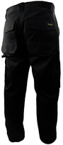 Stanley Phoenix Men's Black Trouser - 33 to 38 inch