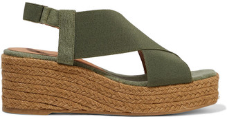 Castaner Quily Canvas Wedge Espadrille Sandals