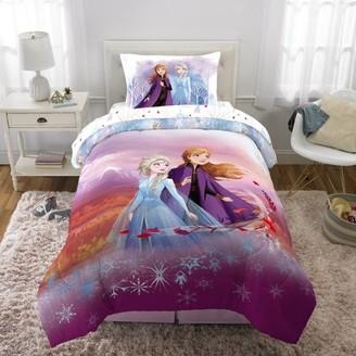 Disney Frozen Frozen 2 Kids Bed in a Bag Bedding Set w/ Reversible Comforter, Spirit of Nature, TWIN Size