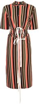 Proenza Schouler Striped Knit Cut Out Dress