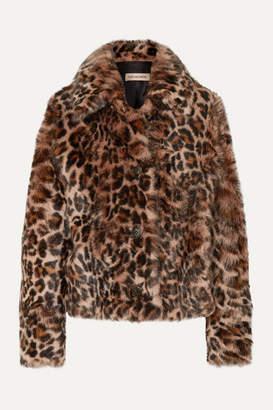 Yves Salomon Leopard-print Shearling Coat - Leopard print