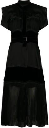 Sacai Belted Waist Dress
