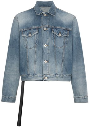 Unravel Project Unravel Snake print denim jacket
