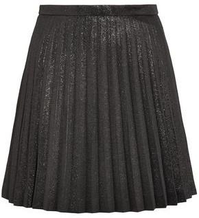 J.Crew Pleated Cotton-blend Lame Mini Skirt