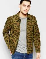 Lee Overshirt Jacket All Over Camo Print In Green