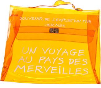 Hermes Orange Vinyl Kelly Ghw