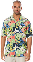 Cubavera Big & Tall Short Sleeve Floral Camp Shirt