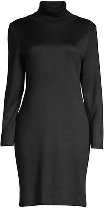 Misook Wool-Blend Knit Turtleneck Sheath Dress