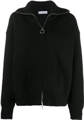 Paco Rabanne Oversized Ribbed Knit Cardigan