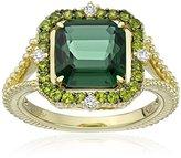 """Judith Ripka Lila"""" Green Quartz Asscher Ring, Size 7"""