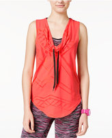 Energie Active Juniors' Diana Cowl-Neck Burnout Tank Top