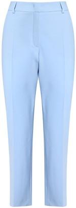 Max Mara Stretch Wool Canvas Straight Leg Pants