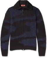 Missoni Textured-knit Zip-up Sweater - Blue