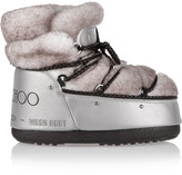 Moon Boot + Jimmy Choo MB Buzz shearling and shell snow boots