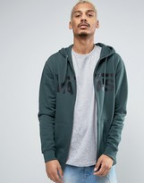 Vans Classic Zip-up Hoodie In Green V00J6K1MC