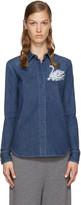 Stella McCartney Blue Denim Swan Shirt