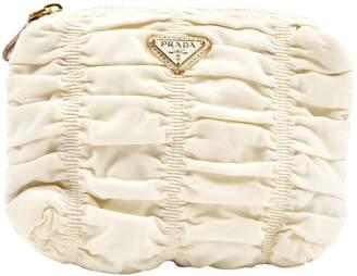 Prada Ecru Synthetic Clutch bags