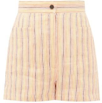 Three Graces London Osmo Striped Linen Shorts - Womens - Multi