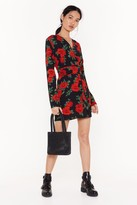 Nasty Gal Womens Beauty and Grace Floral Mini Dress - black - 12