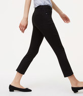 LOFT Curvy Kick Crop Jeans in Black