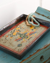 Antique Floral Tray