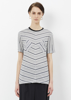 J.W.Anderson navy / white double patch t-shirt