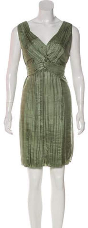 Stella McCartney Silk Mini Dress Green Silk Mini Dress