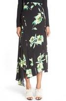 Proenza Schouler Women's Print Asymmetric Hem Skirt