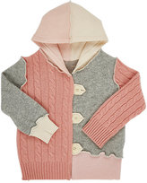Agua Mixed-Stitch Cashmere Hooded Cardigan