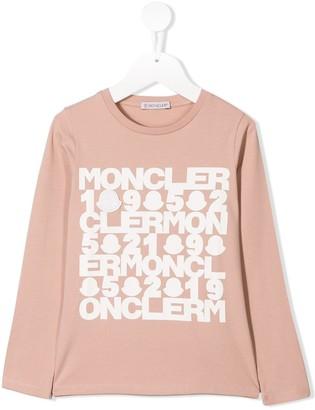 Moncler Enfant Logo Print Long-Sleeve Top