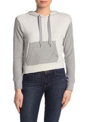 Splendid Sylvie Ribbed Knit Colorblock Pullover