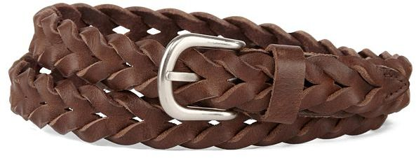 JCPenney Asstd Private Brand Skinny Braided Leather Belt