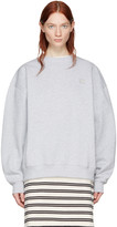 Acne Studios Grey Yana Face Sweatshirt