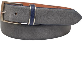 Ted Baker Mens Carrilo Waxed Suede Belt Grey