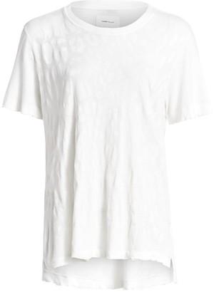 Current/Elliott Leopard Print Cotton Tee