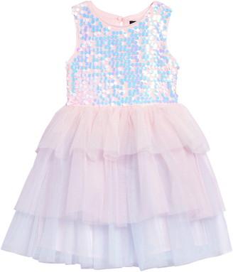 Zunie Sequin Bodice Fit & Flare Dress