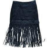 Muu Baa Muubaa Black Suede Skirt for Women