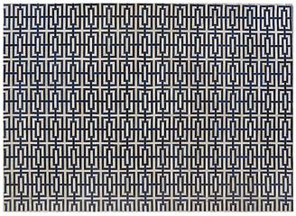 "Winfield Hide Rug - Ivory/Navy - Exquisite Rugs - 11'6""x14'6"""