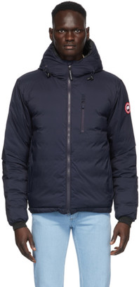 Canada Goose Navy Down Packable Lodge Hooded Jacket