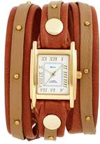 La Mer Women's Studded Leather Wrap Watch, 19Mm