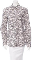 Just Cavalli Abstract Print Button-Up Top