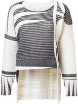 Antonio Berardi round neck patterned jumper - women - Cashmere/Wool - 40