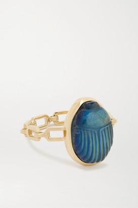 Lito Small Luna 14-karat Gold Labradorite Ring - 7