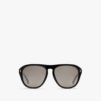 Gucci GG0128S (Black/Silver) Fashion Sunglasses