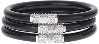 N. Black All-Weather Bangles, Size S-L