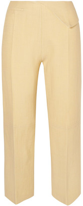 Jacquemus Joao Cropped Wool-blend Straight-leg Pants