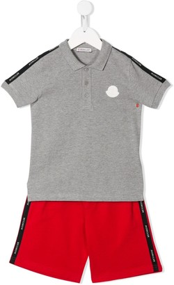 Moncler Enfant Logo Polo Shirt And Shorts