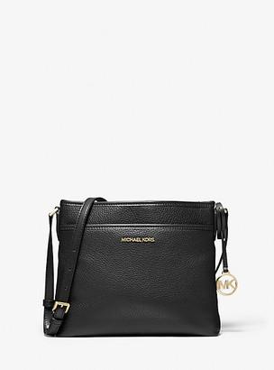 MICHAEL Michael Kors MK Bedford Small Pebbled Leather Crossbody Bag - Black - Michael Kors